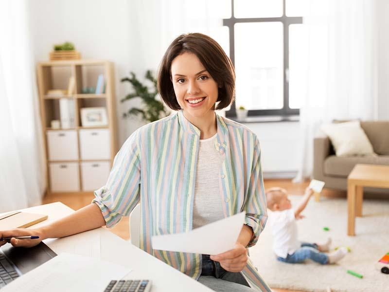 Alleinerziehende Unternehmerin